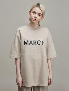 [30%SALE] MARCH PRINT TEE (BG)