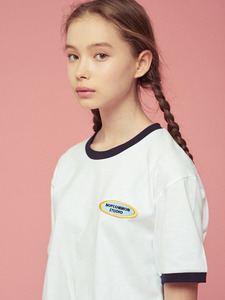 [SEASON OFF 30%] NC LOGO 1/2 TEE WH