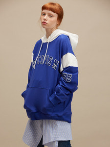 [SALE 30%] 55 PATCH HOODIE BL