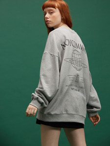 [SALE 30%] PLANET SWEATSHIRT GY