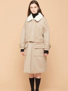[SALE 15%,1/5 예약순차배송] NC DETACHABLE COAT BE