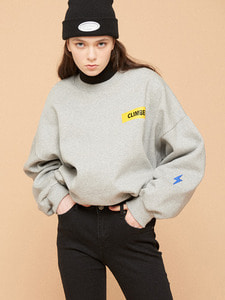 [SALE 30%] CLIMBER PATCH SWEATSHIRT GY