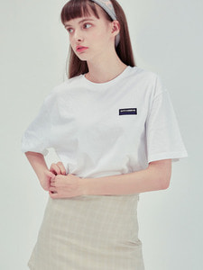 [40% SEASON OFF SALE] SQUARE TEE WH
