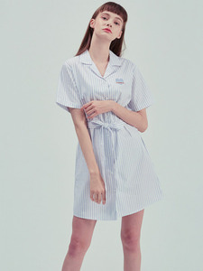 [40% SALE] LOVELY SHIRT ONE-PIECE BL